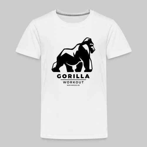 Gorilla Workout by Bodymovez - Kinder Premium T-Shirt