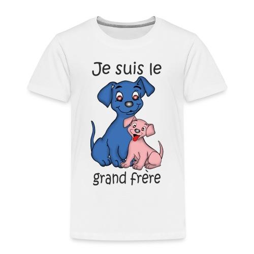 Je suis le grand frere chiot B - T-shirt Premium Enfant