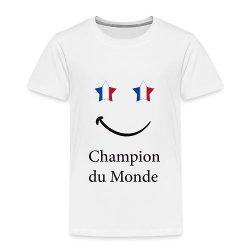 champion du monde bleu blanc rouge - T-shirt Premium Enfant