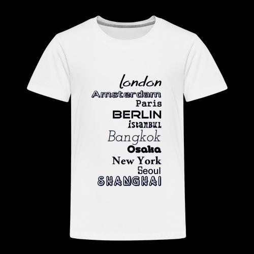 Städte - Länder - Kinder Premium T-Shirt