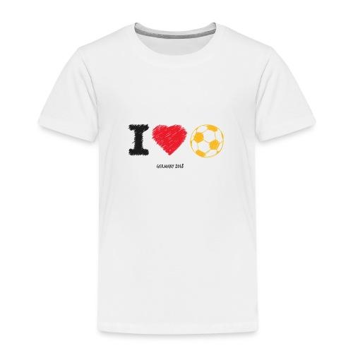 i love soccer - Kinder Premium T-Shirt