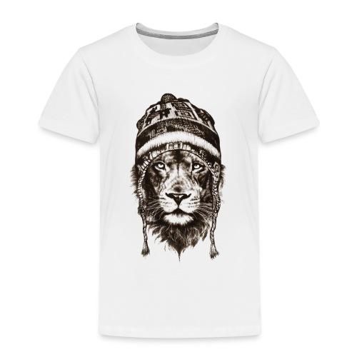 Löwe Mütze Schwarz König Tiere TShirt - Kinder Premium T-Shirt