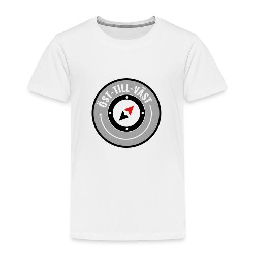 Öst till väst logotyp - Premium-T-shirt barn