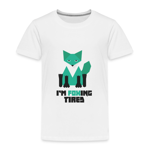 Foxing Tired - Edition Turquoise - T-shirt Premium Enfant