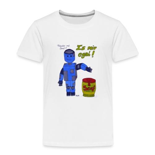 Roboter mit Senf - is mir egal! - Kinder Premium T-Shirt