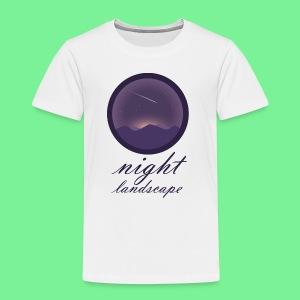 Landschaft bei Nacht - Kinder Premium T-Shirt