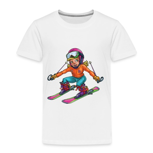 Little skier - Kids' Premium T-Shirt