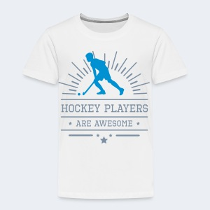Hockeyplayers are Awesome , blue - Kinder Premium T-Shirt