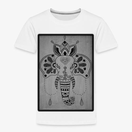 Elefant SW Orientalisch Handgemalt Geschenkidee - Kinder Premium T-Shirt