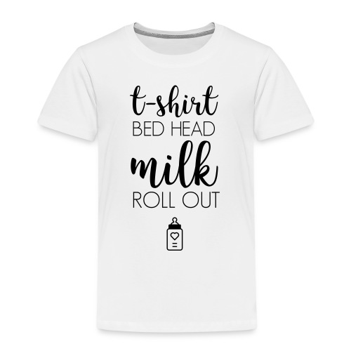 Baby Shirt Bottle Black V1 - Kinder Premium T-Shirt