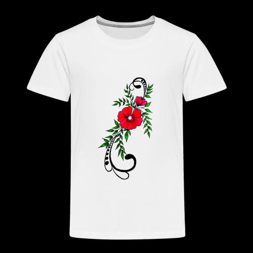 flower art - Kinder Premium T-Shirt