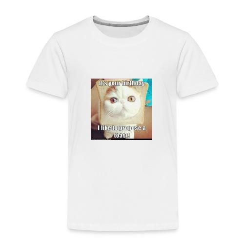 grappige kat - Kinderen Premium T-shirt