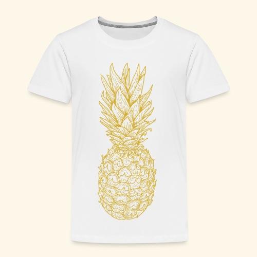 Ananas gold - Kinder Premium T-Shirt