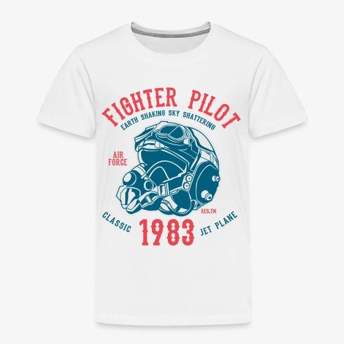 CLASSIC JET PLANE - Kampfjet Piloten Shirt Motiv - Kinder Premium T-Shirt