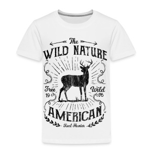 WILD NATURE - Jäger Hunter Hunting Wildnis Shirt - Kinder Premium T-Shirt