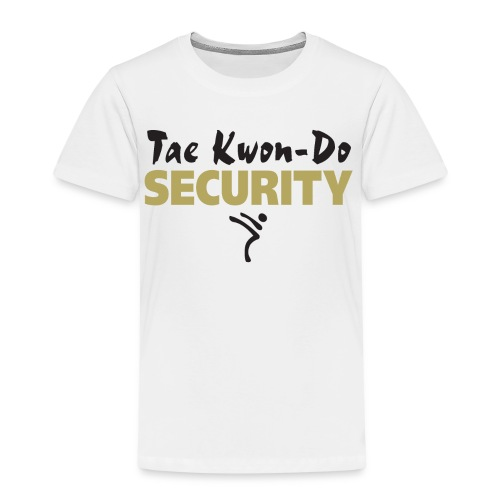 Taekwondo Security black & gold print - Kids' Premium T-Shirt