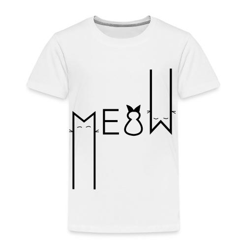 MEOW Miau Katze Süß Liebe - Kinder Premium T-Shirt