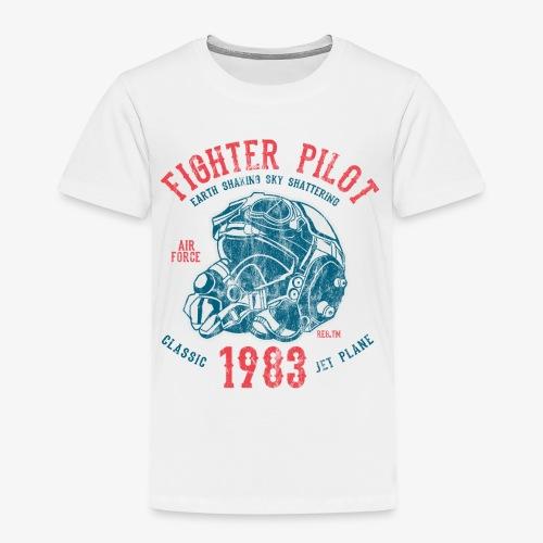 FIGHTER PILOT - Kampfjet Piloten Shirt Motiv - Kinder Premium T-Shirt