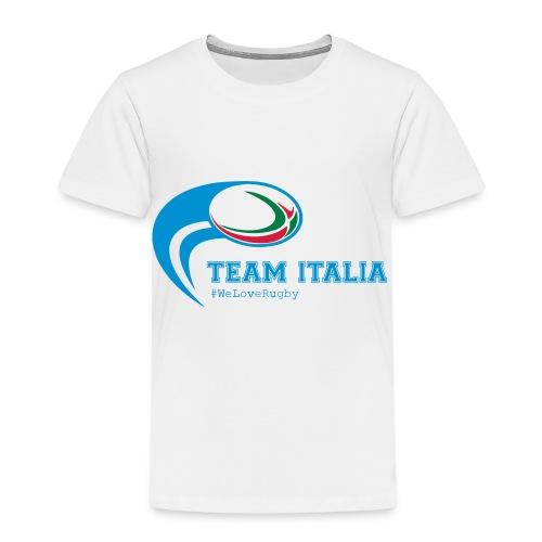 Team Italia - #WeLoveRugby - Maglietta Premium per bambini
