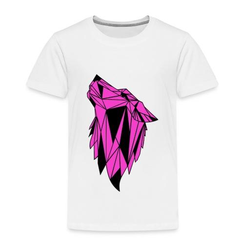 Pink-Schwarzer Wolf - Kinder Premium T-Shirt