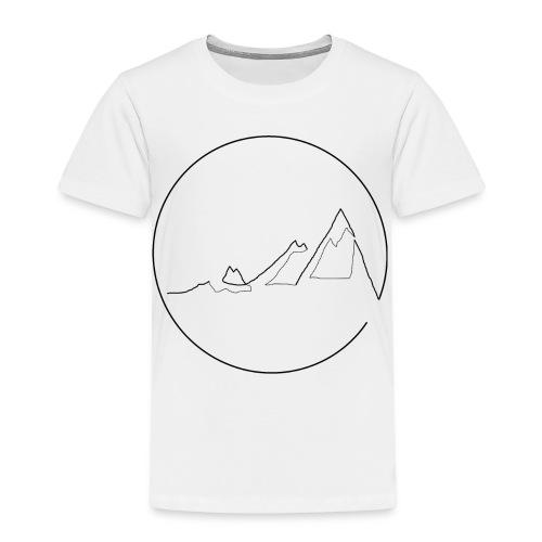 Mountain black - Kinder Premium T-Shirt