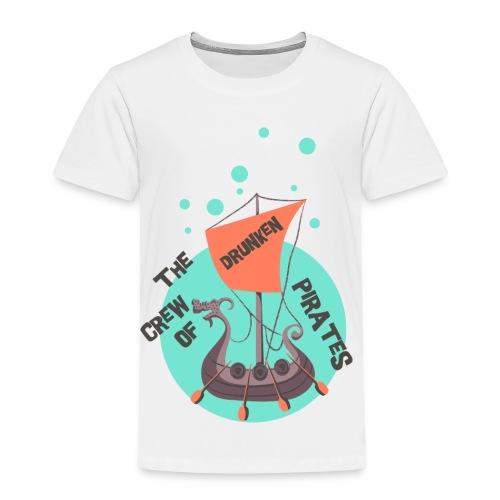 CREW OF PIRATES - Piraten Spruch Sprüche Shirt - Kinder Premium T-Shirt