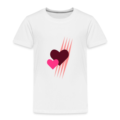 Teddy.Kidswear. – Hearts - Kinder Premium T-Shirt