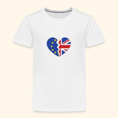 Royaume-Uni et Gibraltar Union européenne Heart référendum d'adhésion - T-shirt Premium Enfant