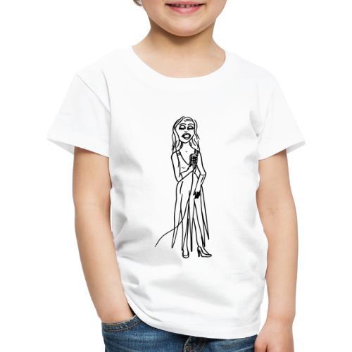 Lucy Lue singing - Kinder Premium T-Shirt