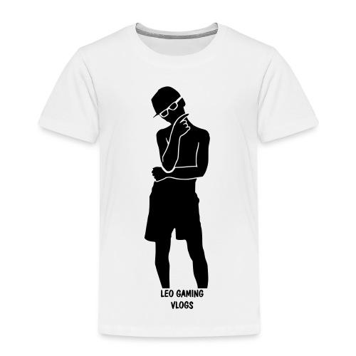 Leo Gaming Vlogs Silhouette - Kids' Premium T-Shirt