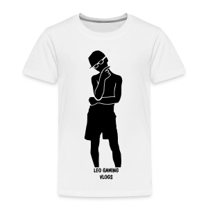 Leo Gaming Vlogs Silhouette - Kids' Premium T-Shirt