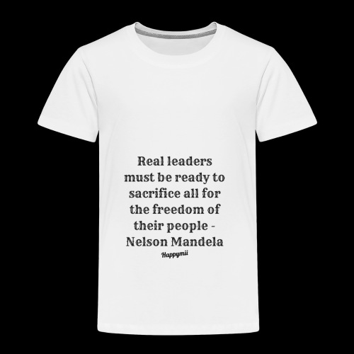 Mandela qoutes - Børne premium T-shirt