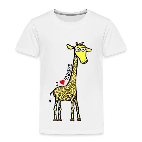 Kocham Żyrafę - Czarny napis - Koszulka dziecięca Premium