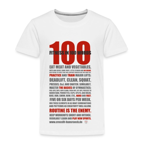 100 WORDS light shirt - Kinder Premium T-Shirt