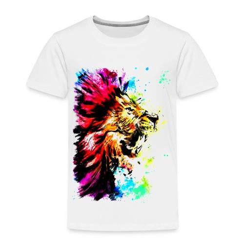Löwenkopf aquarell - Kinder Premium T-Shirt