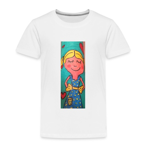 Niña rubia - Camiseta premium niño