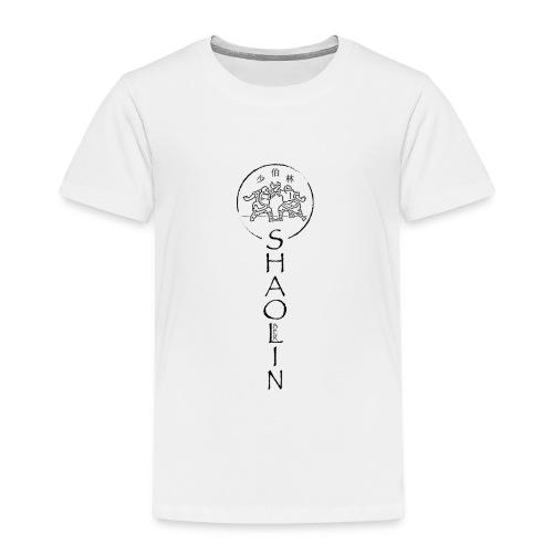 Shaolin Berlin Logo vertikal schwarz - Kinder Premium T-Shirt