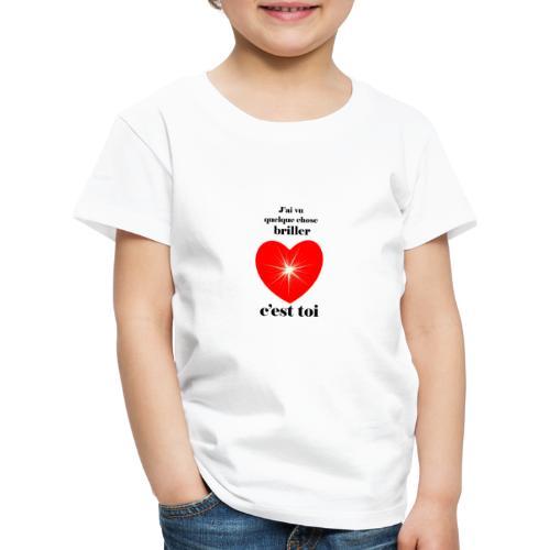 Coeur brillant ...amoureux ou inspiré FC - T-shirt Premium Enfant