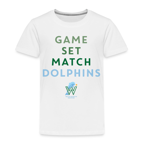 Game Set Match Dolphins - Kinder Premium T-Shirt