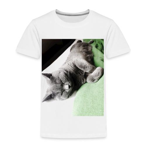 Träumender Kater lädt zum Kuscheln ein - Kinder Premium T-Shirt
