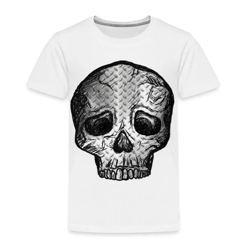 Totenkopf Schädel Kopf Metall Totenschädel Knochen - Kinder Premium T-Shirt