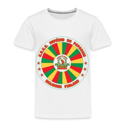 Papagaio drum logo - Lasten premium t-paita