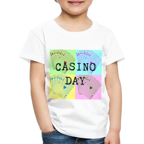 Casino Day Coloured Cards - Kids' Premium T-Shirt