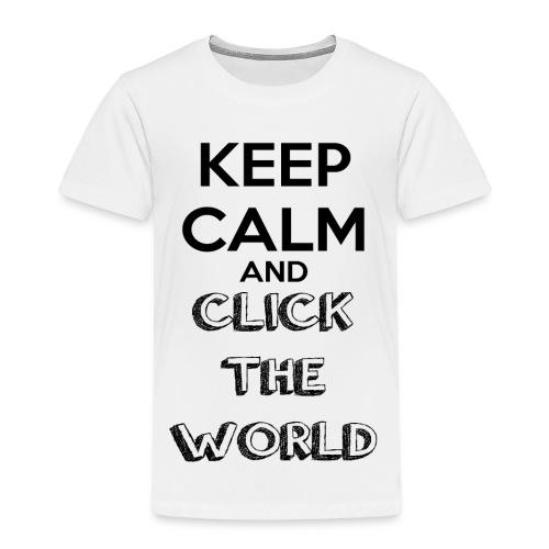 BORSA TESSUTO KEEP CALM AND CLICK THE WORLD - Maglietta Premium per bambini