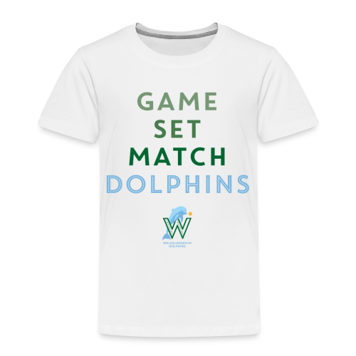 Game Set Match Dolphins - Kinder Premium T-Shirt