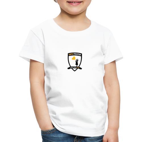 DIPG FIGHTER – Wappen (schwarz) - Kinder Premium T-Shirt