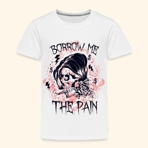 BORROW ME - Schmerz Totenkopf Sensenmann Geschenk - Kinder Premium T-Shirt