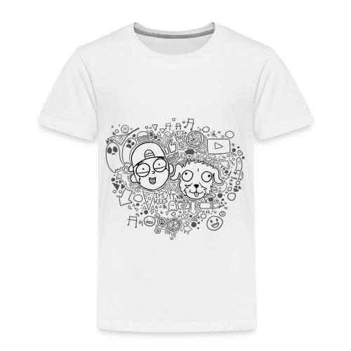 ROCKY EN KEES ZWART-WIT - Kids' Premium T-Shirt