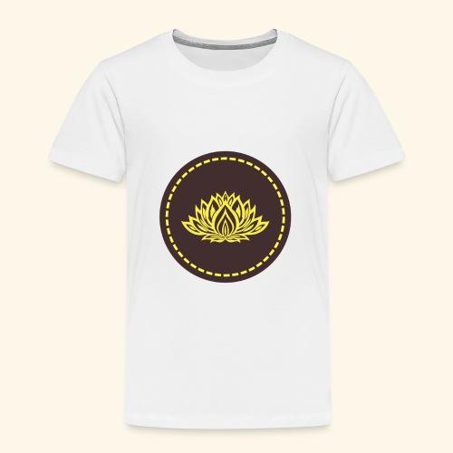 Mandala lotus marron jaune - T-shirt Premium Enfant