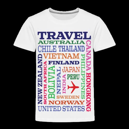 Travel Places design - Lasten premium t-paita
